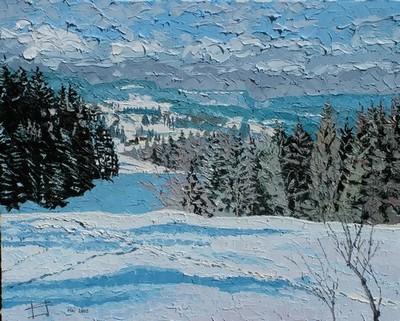 au Bois de la Pile, Jura Suisse. 2005. (50cmx61cm)