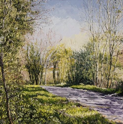 clarté sur le bois de Parmont (Béhencourt). 2015. 70cmx70cm