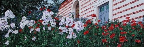 floraison automnale, place de l`église de Montigny sur l`Hallue. 2009. (40cmx120cm)