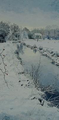 hiver enneigé sur l`Hallue
