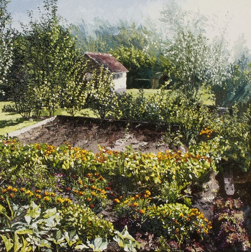 le potager en fleurs. 2016. 80cmx80cm