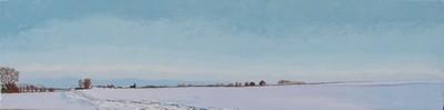 les hauteurs du bois de Parmont sous la neige. 2010. (30cmx120cm)