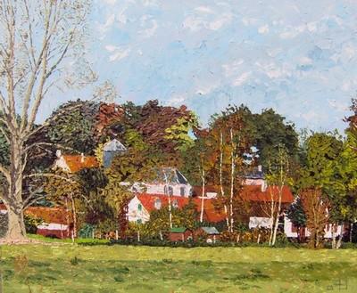 Les Prés de la Fontaine en automne, Montigny sur l`Hallue. 2005. (81cmx100cm)
