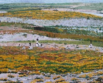 Les Tadornes de Belon, Hâble d`Ault. 2002. (81cmx100cm)