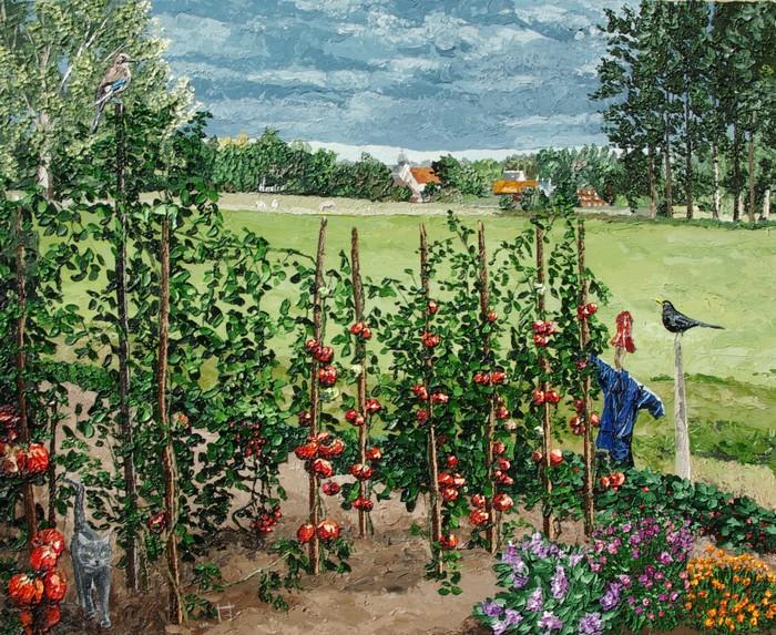 c`est un jardin extraordinaire...presque ordinaire. février 2011. 50cmx62cm
