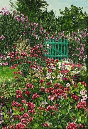 La barrière fleurie. 2011. 35cmx24cm.
