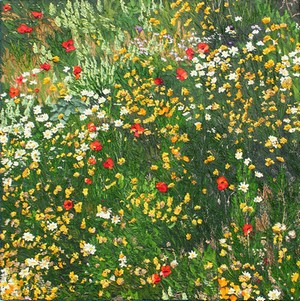Au hasard d`un regard fleuri. 2011. 80cmx80cm.