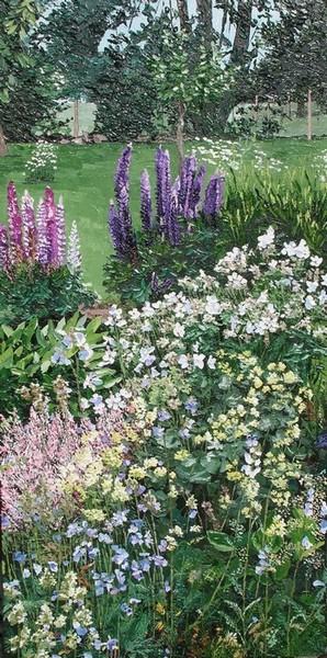 Les lupins du jardin, Montigny sur l`Hallue. 2010. (100cmx50cm)